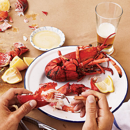 Grilled Maine Lobsters