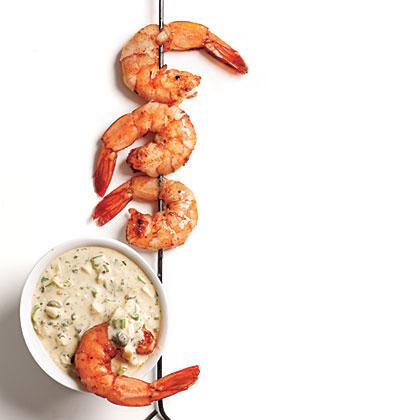 Cajun-Spiced Smoked Shrimp with Rémoulade