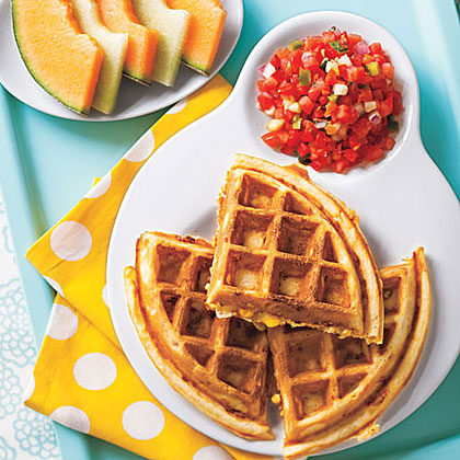 Corn and Cheddar Waffles