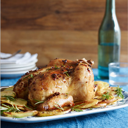 Tuscan Roast Chicken With Potatoes
