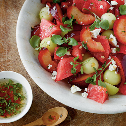 Melon and Plum Salad