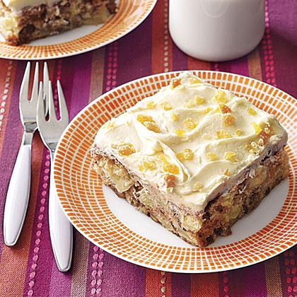 Apple-Ginger Snack Cake