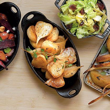 Sorghum-Glazed Turnips