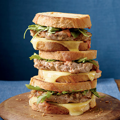 Turkey Burger Patty Melts