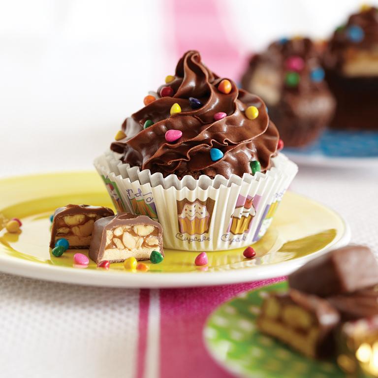 Funfetti® Peanutty Nougat Brownie Cupcakes