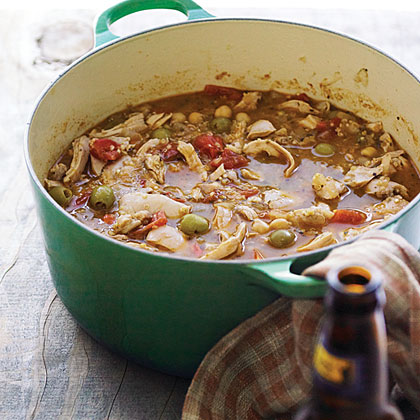 Chicken, Quinoa, and Green-Olive Stew