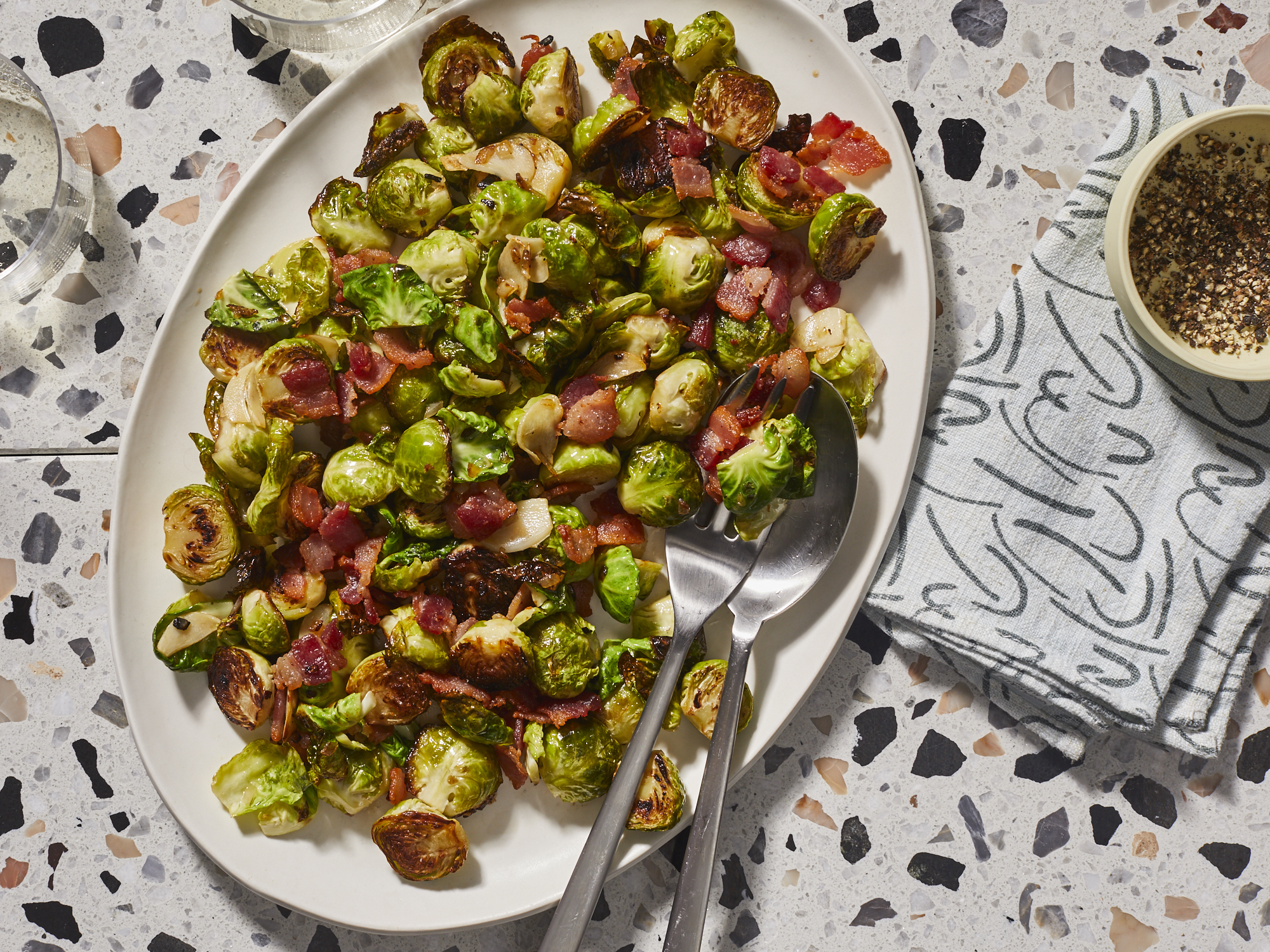 mr-Brussels Sprouts with Bacon, Garlic, and Shallots Image
