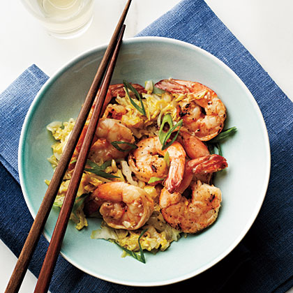Cantonese-Style Shrimp and Napa Cabbage
