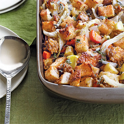 Fennel, Sausage, and Caramelized Apple Stuffing
