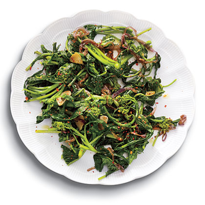 Spicy Sautéed Broccoli Rabe with Garlic