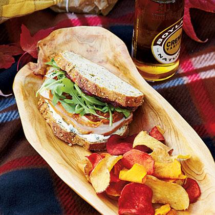 Pancetta-Arugula-Turkey Sandwiches