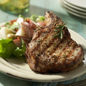 Pork Chops with Fennel and Rosemary