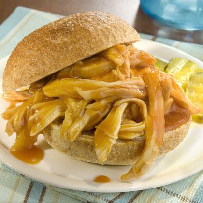 Savory Pulled Rotisserie Chicken Sandwiches