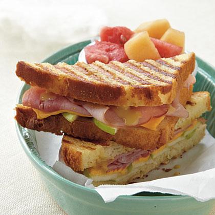 Ham, Cheese, and Apple Panini