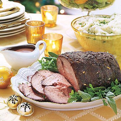 Beef Roast with Red-Wine Gravy