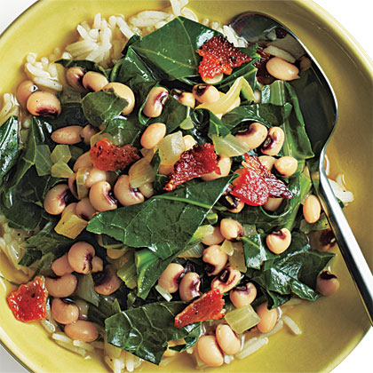 Black-Eyed Peas and Greens