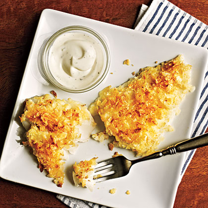Chip-Crusted Fish Fillets