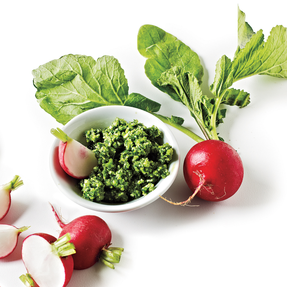 Radishes with Iceberg and Herb Butter