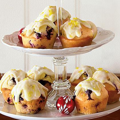 Blueberry Muffins with Lemon-Cream Cheese Glaze