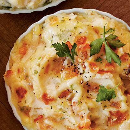 Caramelized Onion Mashed Potato Bake
