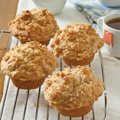 Applesauce Muffins with Cinnamon Streusel Topping