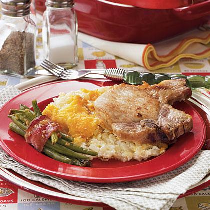 Hashbrown-Pork Chop Casserole