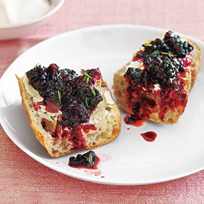 Tartine with Blackberry Thyme Salad