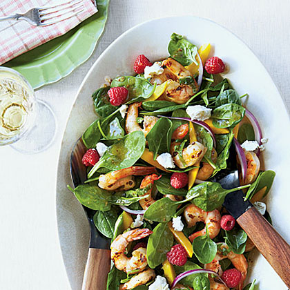 Grilled Shrimp and Spinach Salad