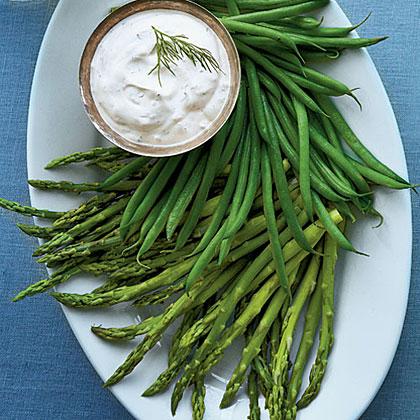 Herbed Dip with Baby Vegetables