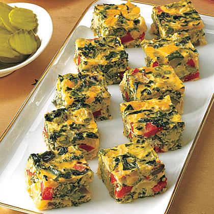 Vegetable Frittata Squares