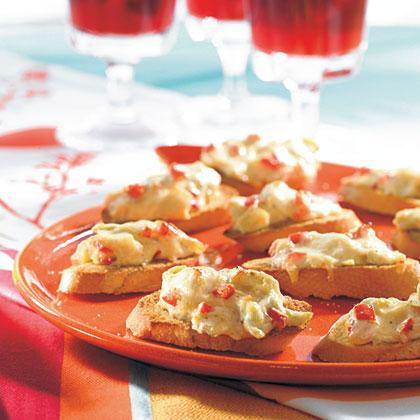Parmesan-Artichoke Crostini