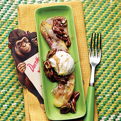 Browned Butter Bananas with Toasted Pecans