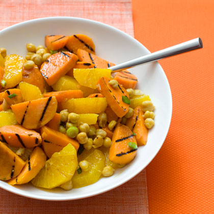 Grilled Sweet Potato, Orange, and Chickpea Salad