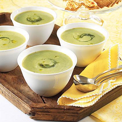 Chilled Pesto-Pea Soup