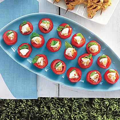 Mozzarella-Stuffed Cherry Tomatoes