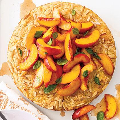 Peach and Basil Shortcake