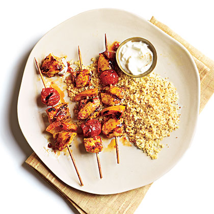Spicy Moroccan Chicken Skewers
