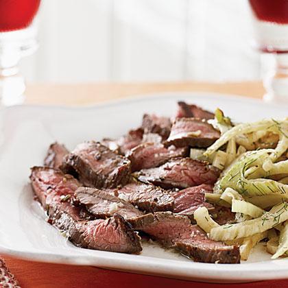 Flank Steak with Lemon Fennel
