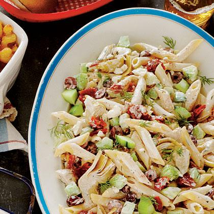 Tangy Tzatziki Pasta Salad