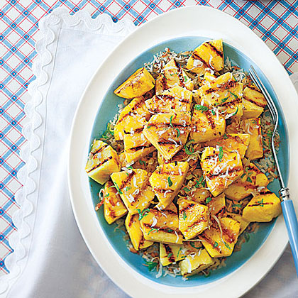 Grilled Pineapple with Lime and Coconut