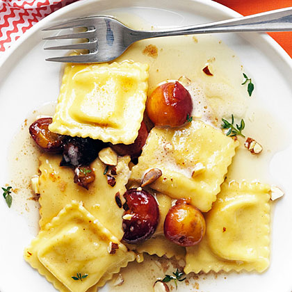 Cherry Brown Butter Ravioli