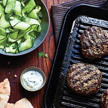 Beef Kefta Patties with Cucumber Salad