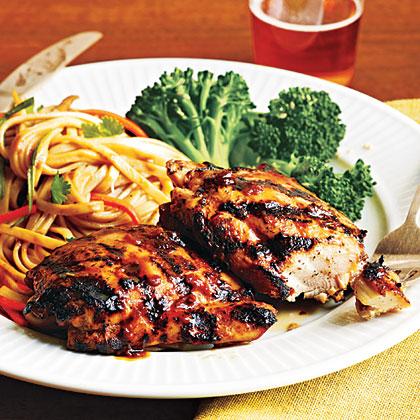 Glazed Chicken and Szechuan Noodle Salad