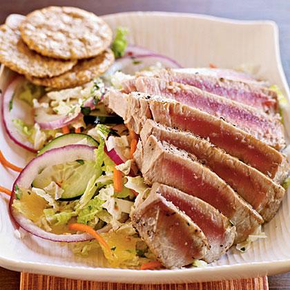 Pan-Grilled Thai Tuna Salad