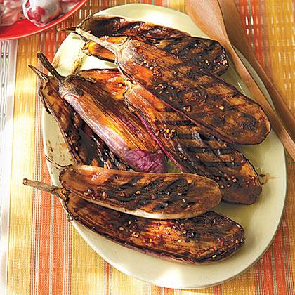 Balsamic-Glazed Baby Eggplant