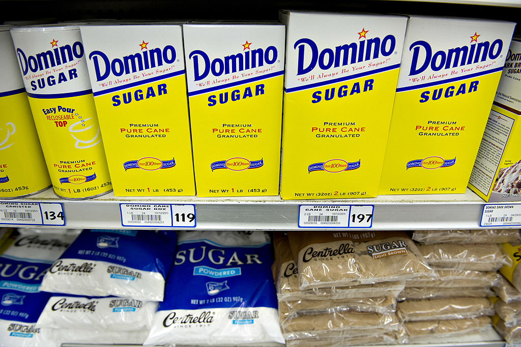 sits on display in a supermarket in Princeton, Illinois, U.S., on Tuesday, June 4, 2013. The Food and Agriculture Organization of the United Nations will release its monthly food price index on June 6. The index, a measure of the monthly change in interna