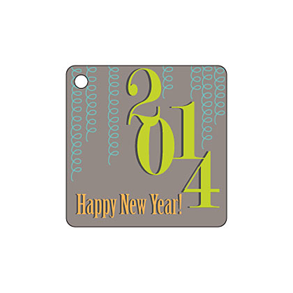 Holiday Gift Tag - Happy New Year 2014