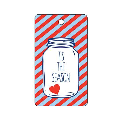 Holiday Gift Tag - Tis the Season Jar