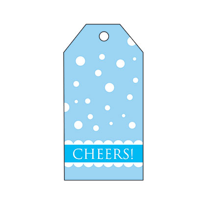 Holiday Gift Tag - Blue Snow