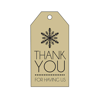 Holiday Gift Tag - Brown Thank You
